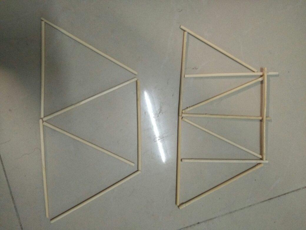 筷子桥梁论+�yf_用筷子搭承重墙,侧面用哪一种结构承重比更大,左边的还是右边的,承重
