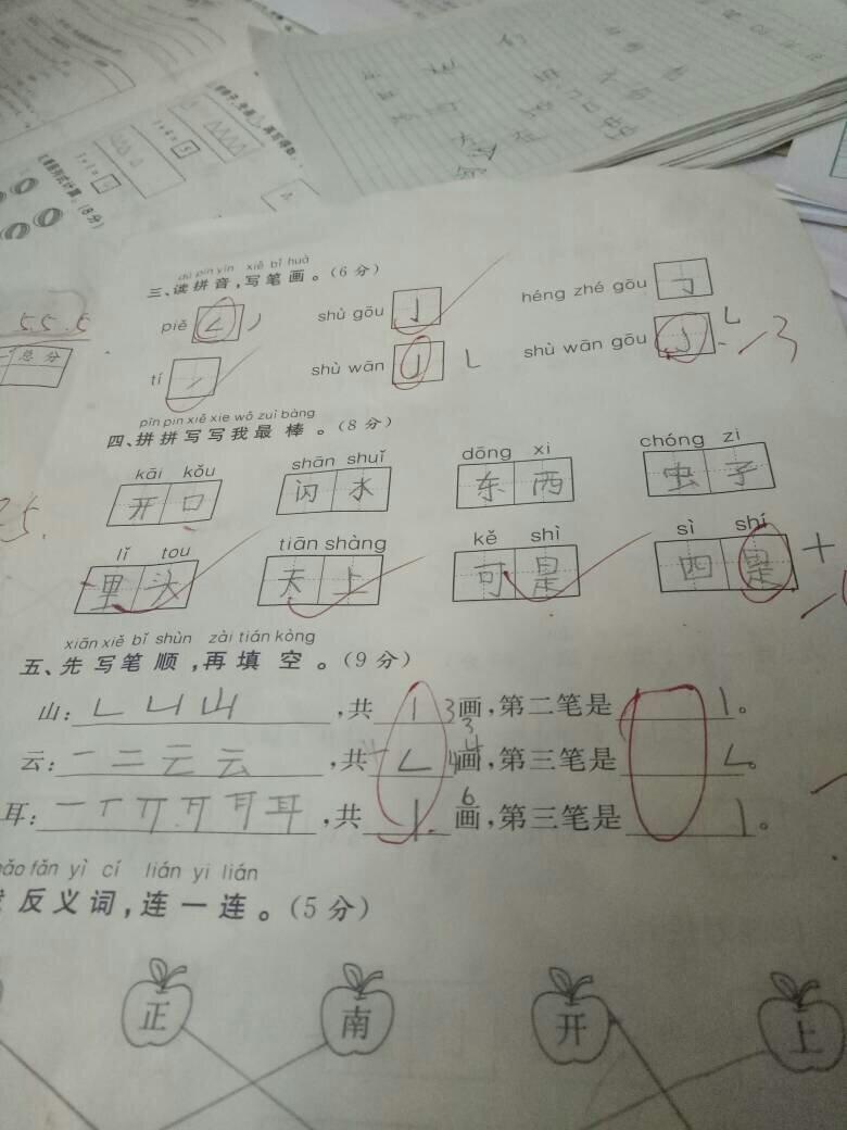 0的笔画顺序-第五题是这样写笔顺的吗 第几笔是这样写的吗
