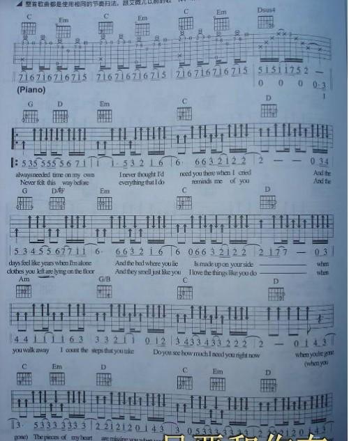 i am yours吉他原谱_i am yours 吉它谱 还有illa illa的吉他谱 要六线谱的例图如下 邮箱 ...