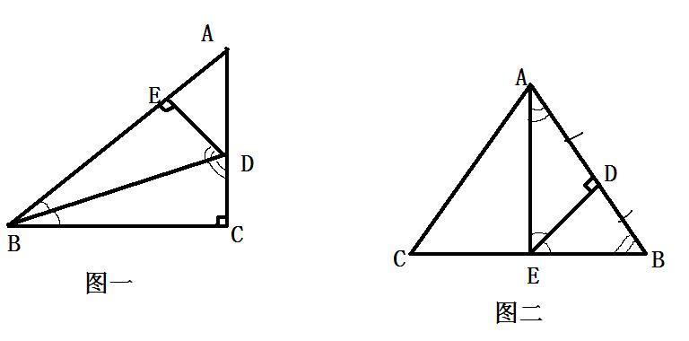 若ab 10 bc 8 ac 6_图一,若AB=10,BC=8,AC=6,则BE=8,AE=2,三角形AED的周长是多少 ...
