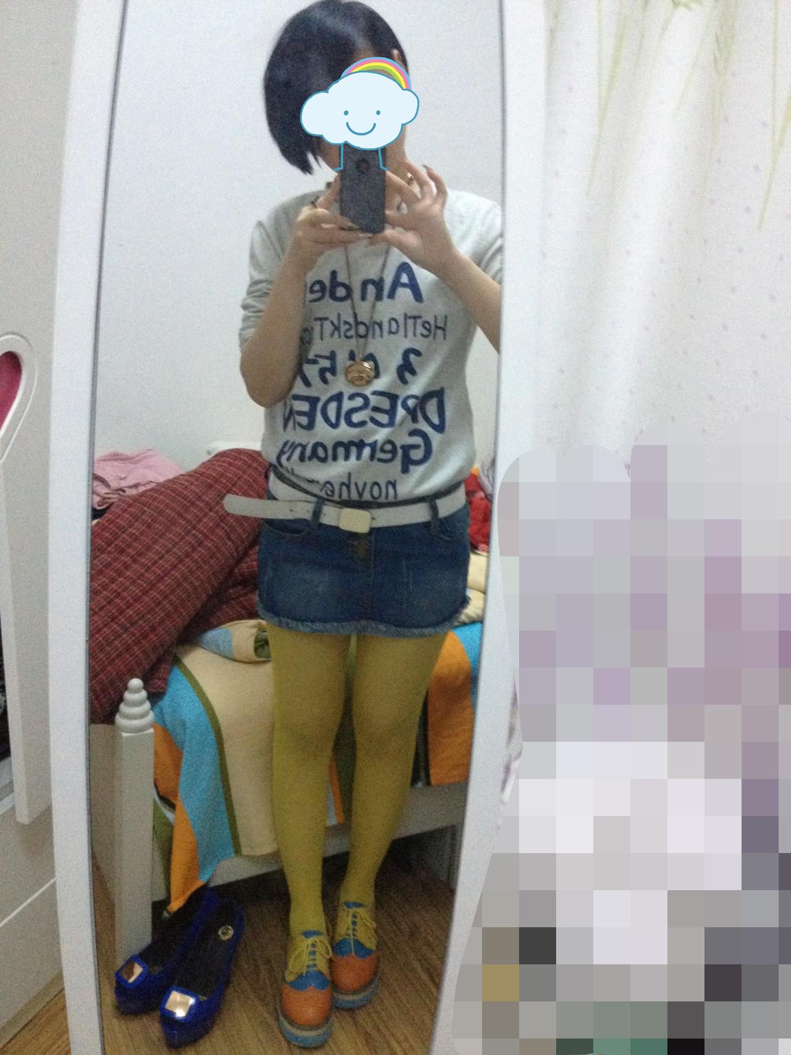 情色丝袜图片_黄色丝袜配牛仔短裙灰色t恤好看吗?_百度知道