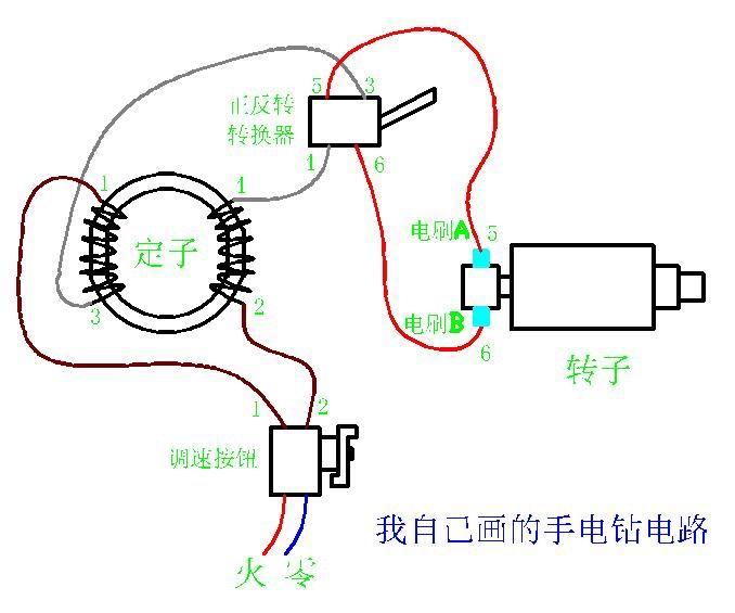 角磨机电路接线图_求手枪钻和角磨机的接线方法。_百度知道