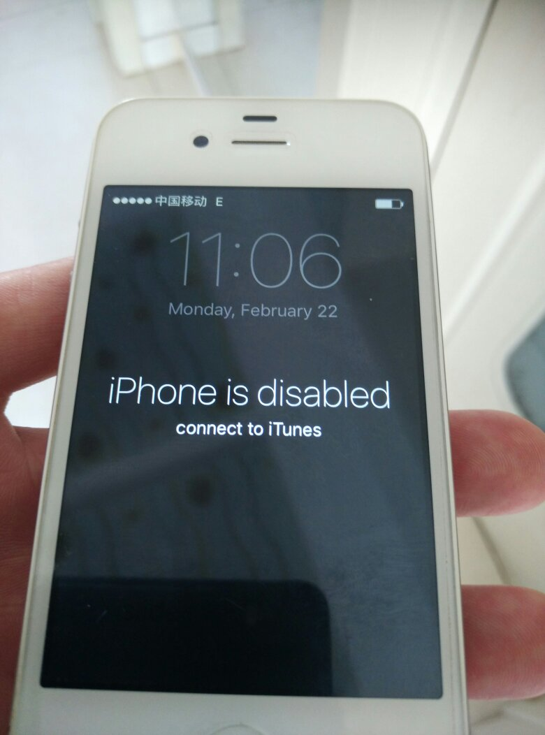 iphone disabled connect to itunes 4s手机出现iphone is disabled connect to itunes怎么样能保留手 百度知道 1761