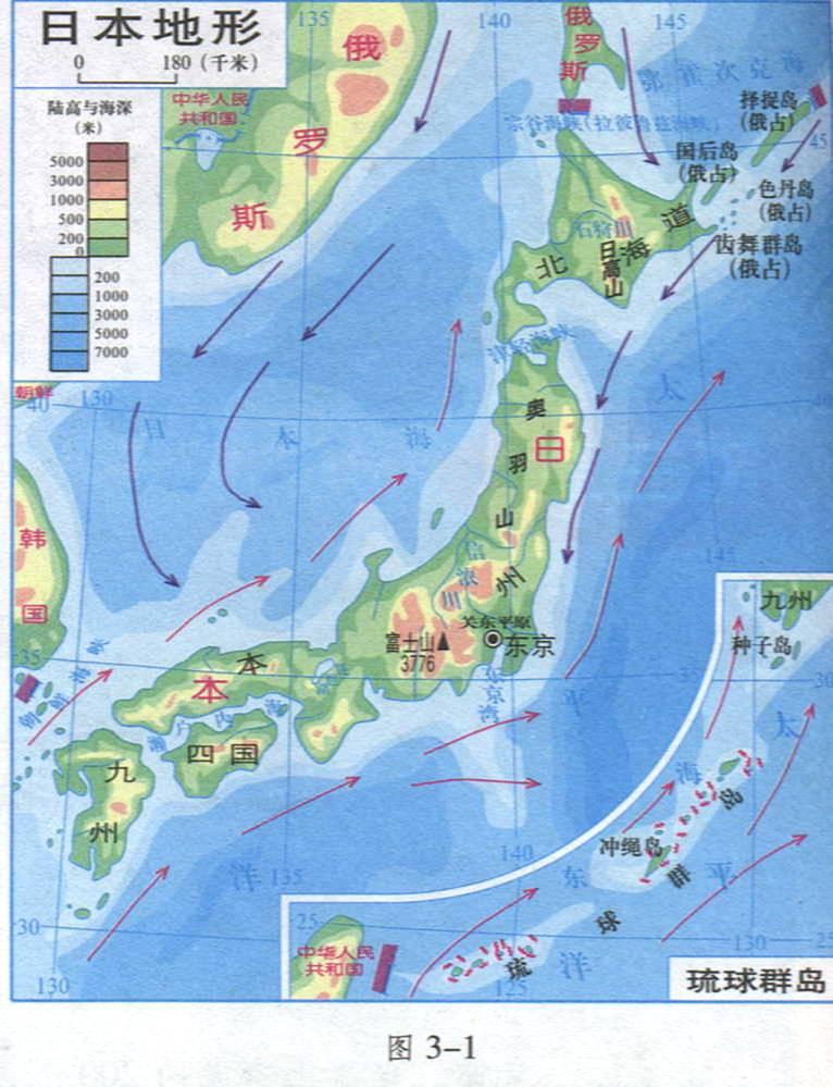 日本囹�a��.X�_日本地形图,学霸们,求图啊