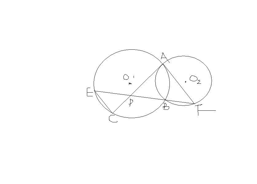 如图 圆o2与半圆o1_求证:如图,已知圆O1和圆O2相交于AB两点,过点A作圆O2的切线交圆O1 ...