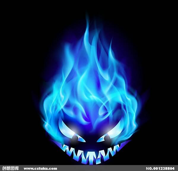 飞�_求帮制作蓝色火焰\