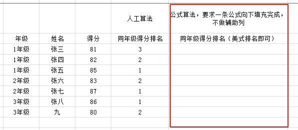 排名函数_排名函数rank公式