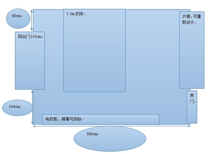 12平方米的卧室(正方形的)该怎么设计最有效利用 ...