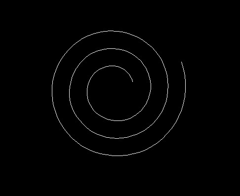 2007版cad如何画椭圆形的螺旋线