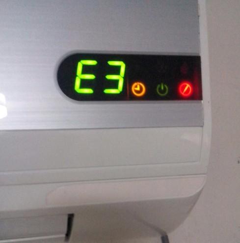 新科空调故障代码e5_新科空调突然死机,是什么原因呢?如图