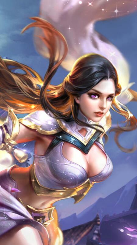 王者榮耀露娜皮膚紫霞仙子的超清壁紙圖片