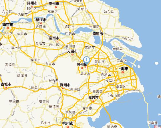 无锡景点地图分布图