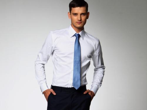 男士正装衬衣图片_男士穿衬衫正装要戴领带吗?_百度知道