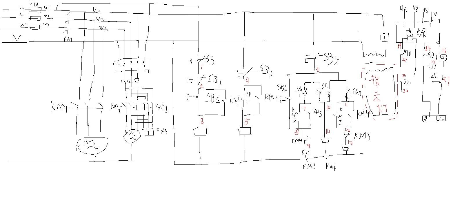 接触器正反转原理图_电火花线切割控制电气如何接线?特别是丝筒正反转保护和高频 ...