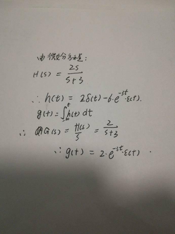 冲激响应h(t)