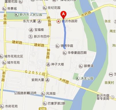 新沂市城区地图