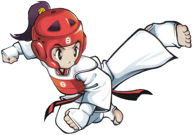 跆拳道卡通图_求一张卡通的跆拳道图片_百度知道