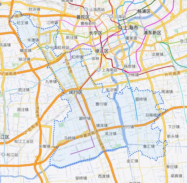 上海闵行区地图?