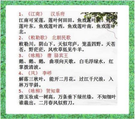 小学生传统经典诗词70首 小学生必背古诗词70首按——分类