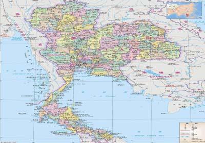 地图 泰国 曼谷