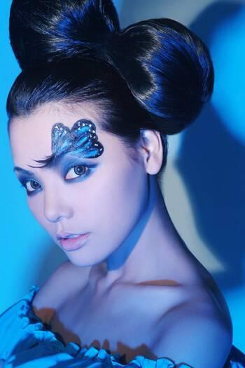 海洋系列的创意妆面图片