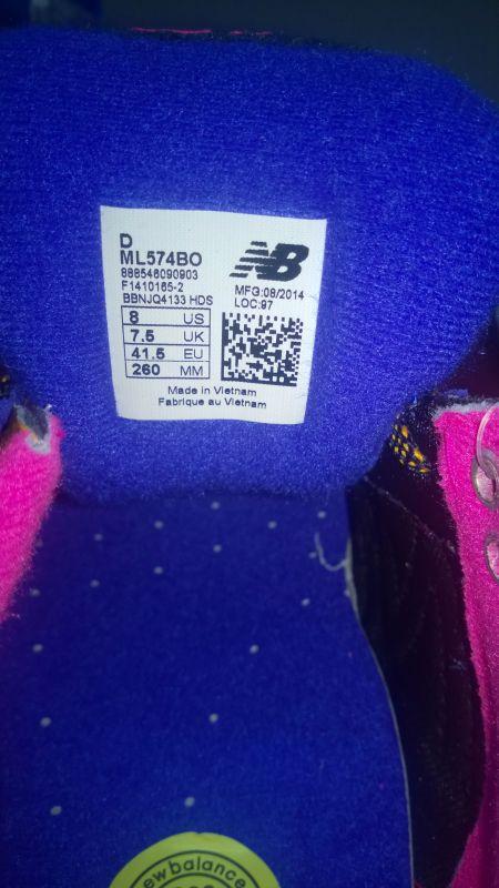 越南制造的NB鞋标辨真假