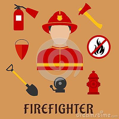 消防员的消防工具简笔画都有哪些