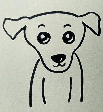 有没有小狗简笔画的图片