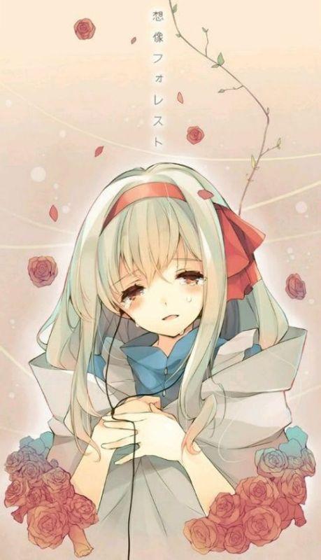 动漫女孩哭的头像_求几张类似于这样一半流泪一半微笑的动漫少女!急!!_百度知道