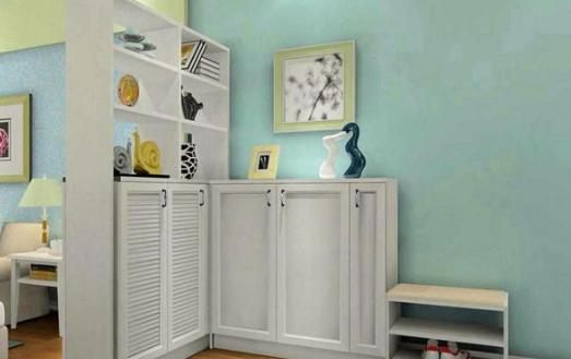 鞋柜玄关装修效果图进门处怎么设计鞋柜的玄关比较合理?