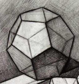 正十二面体素描的透视怎么画图片
