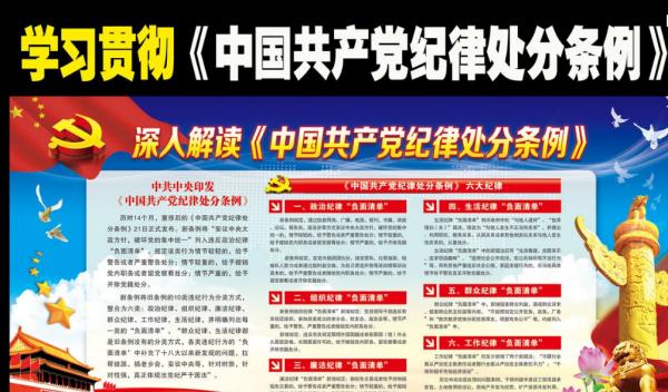 党的六大纪律指的是什么_中国共产党纪律处分条例什么时候开始实施_百度知道