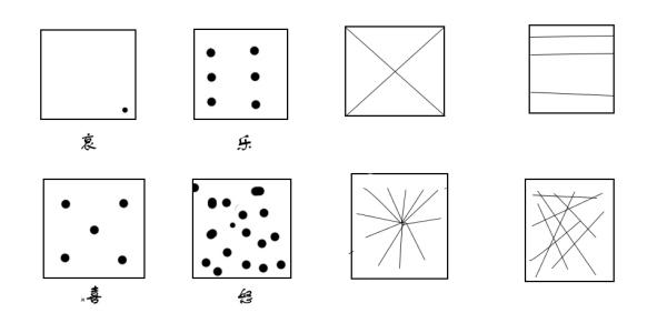 用点线面画一幅画简单_美术老师让我们用点和线画出四幅图代表喜怒哀乐_百度知道