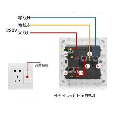 电灯单控开关接线图_明线一开五孔双控开关如何接线图_百度知道