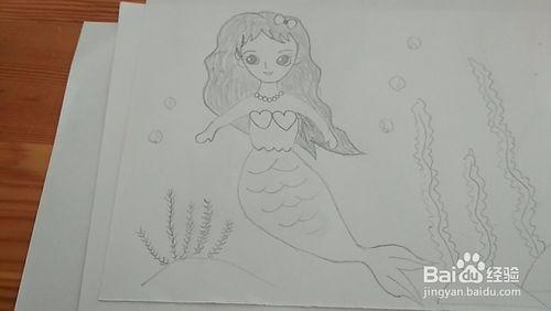 多妈简笔画漂亮的美人鱼