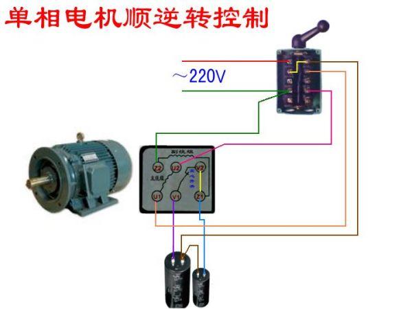 220v交流电机正反转_单向双电容电机怎么接正反转开关_百度知道
