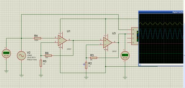 求一个微弱信号放大器电路 输入信号0 20mv 放大倍数200图片