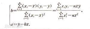 excel乘法计算公式_最小二乘法求线性回归方程中的系数a,b怎么求_百度知道