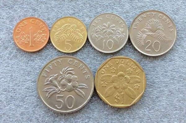 新加坡的硬币是什么样子的