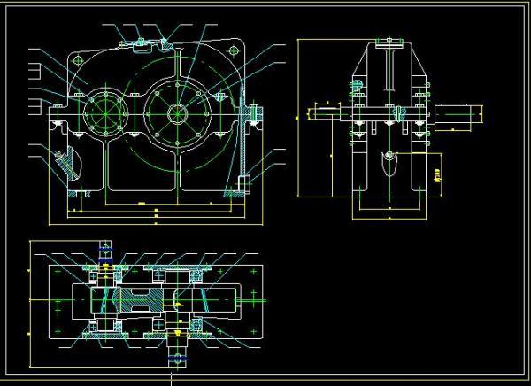 主减速齿轮零件图_需要几个一级圆柱斜齿轮减速器装配图,最好是cad,_百度知道