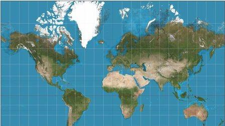 世界地图并不是世界的真实样貌!甚至误差非常大