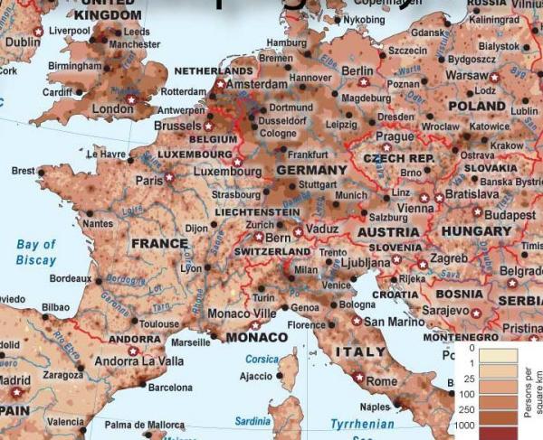 为什么法国人口稠密_法国人口数量英文图