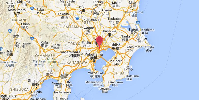 东京湾旅游地图