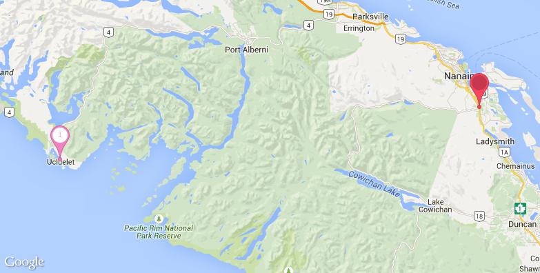温哥华岛旅游地图