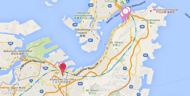 北九州旅游地图