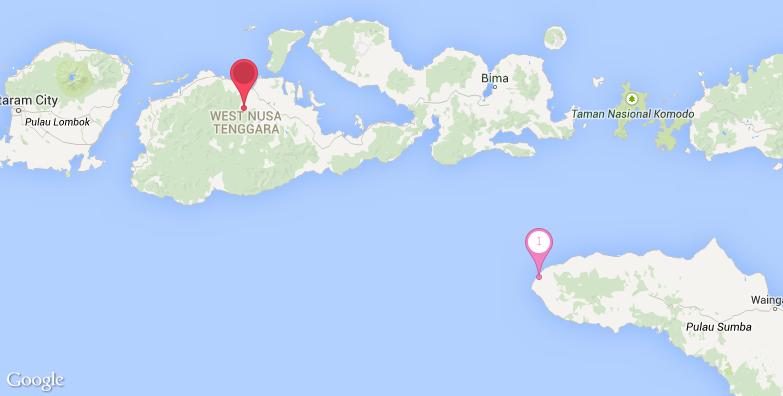 松巴哇岛旅游地图