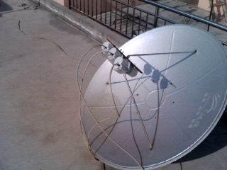 大锅高频头安装图_两个中星6b高频头都安装在大锅上,一个做主接,另一个可以接受 ...