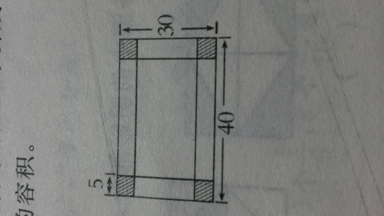 一块长方形苗圃的长_有一块长40cm 宽30cm 的长方形铁皮 在它的四个角分别剪去面积相等 ...