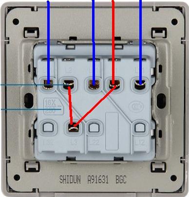 单开3控开关接线图_求三开单控开关接线图_百度知道