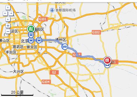 北京東城區香河園路離廊坊香河縣多遠圖片